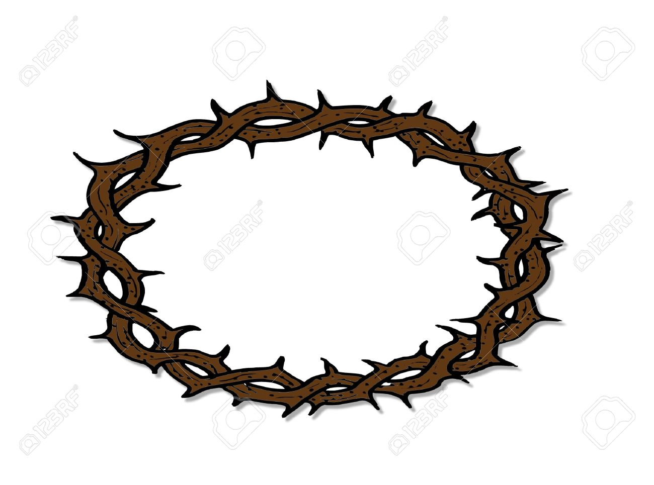 crown of thorns royalty free cliparts vectors and stock rh 123rf com jesus crown of thorns clipart crown of thorns clipart black and white