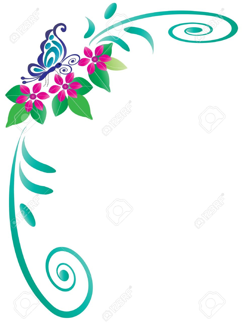 26,992 Floral Corner Cliparts, Stock Vector And Royalty Free ...