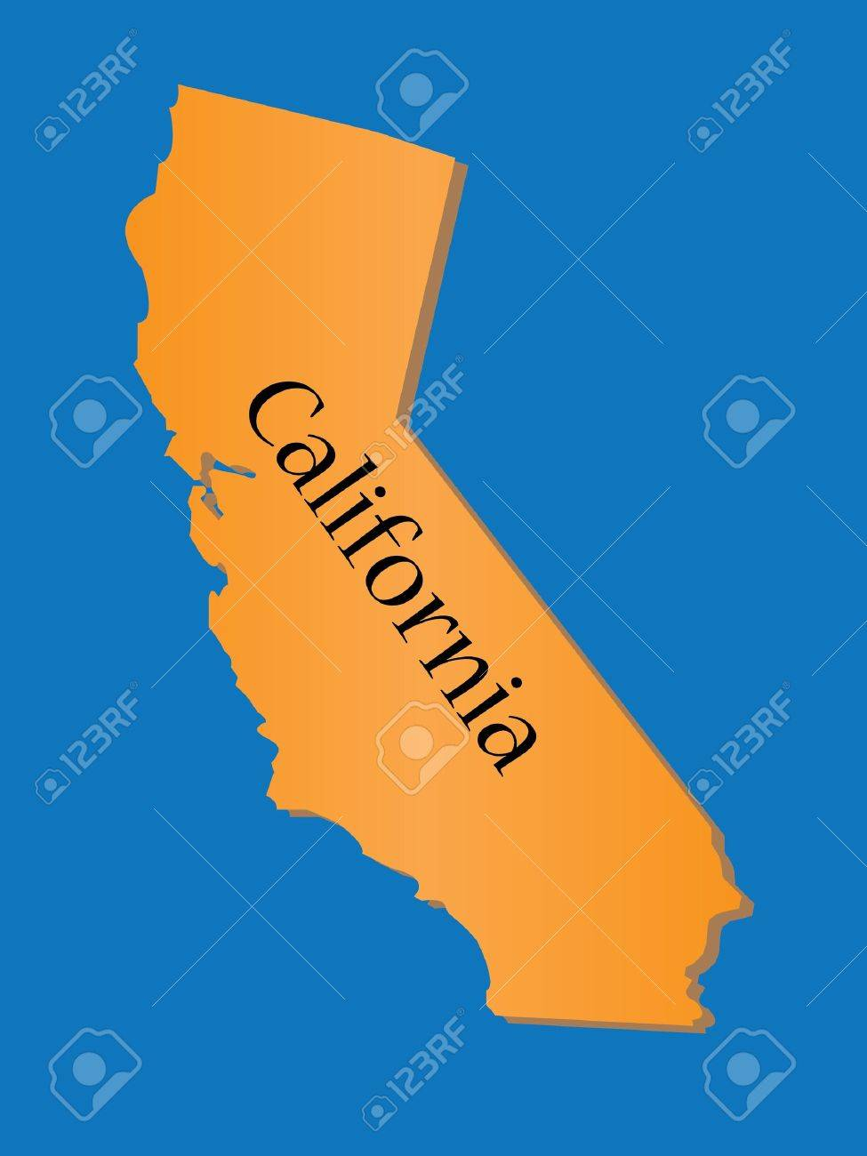 California State Map Stock Vector - 10736469