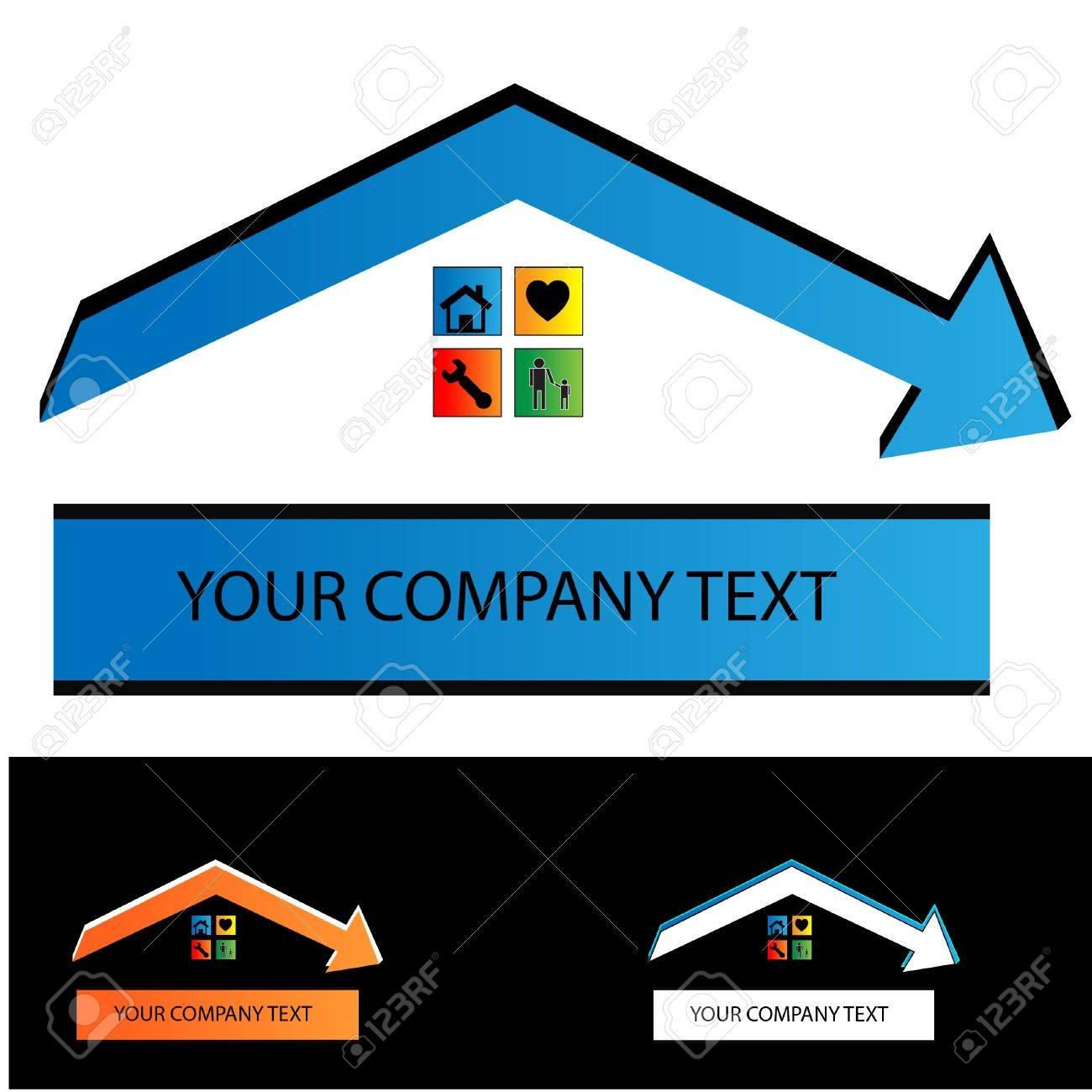 Immobilienvertrag Gebäude Contruction Logo Lizenzfrei Nutzbare