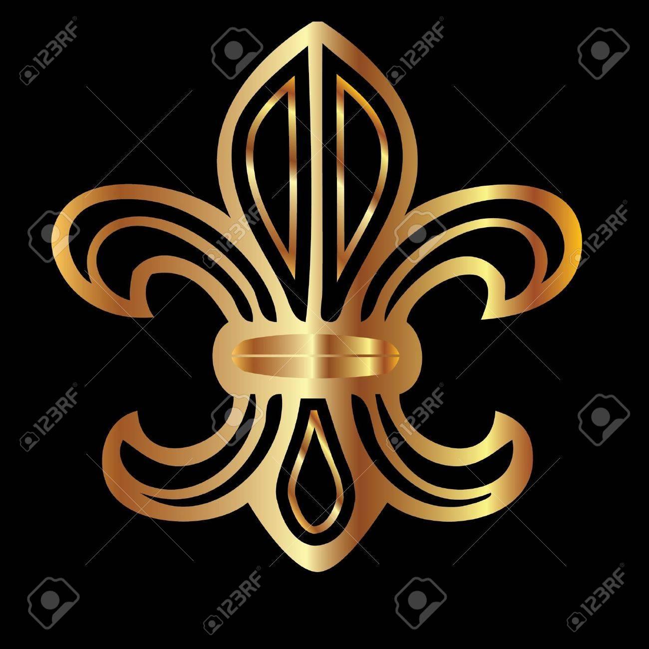 Golden glowing flour de lis symbol royalty free cliparts vectors golden glowing flour de lis symbol stock vector 10893600 biocorpaavc