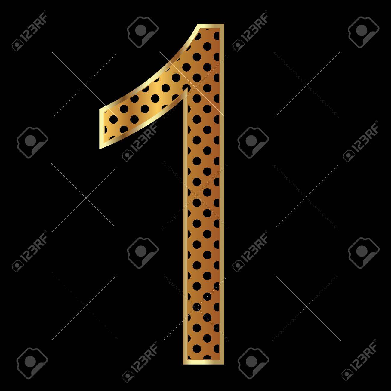Number one tiger style collection Stock Vector - 11020770