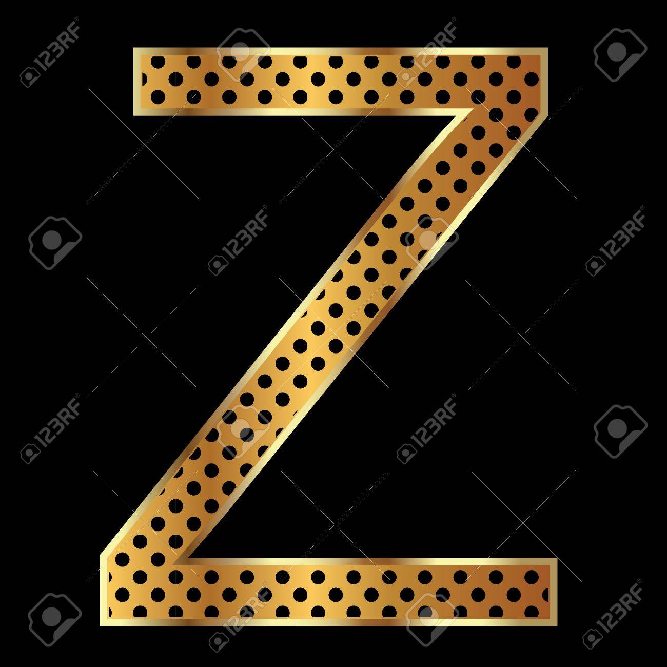 Letter z with tiger style and gold Stock Vector - 11020822