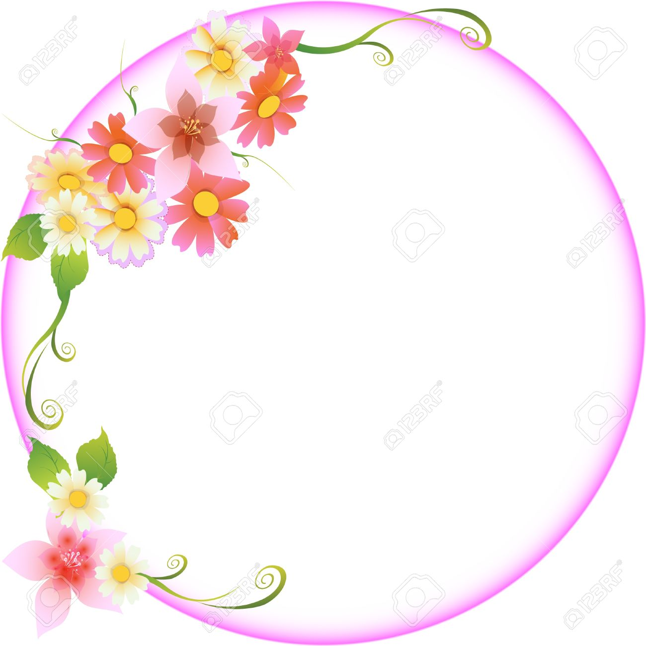Floral Wedding Frame Royalty Free Cliparts, Vectors, And Stock ...