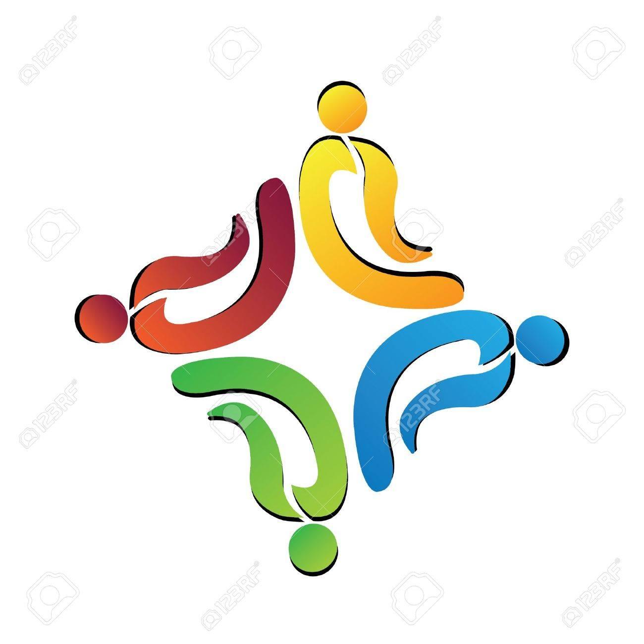 Teamwork logo Stock Vector - 11195657