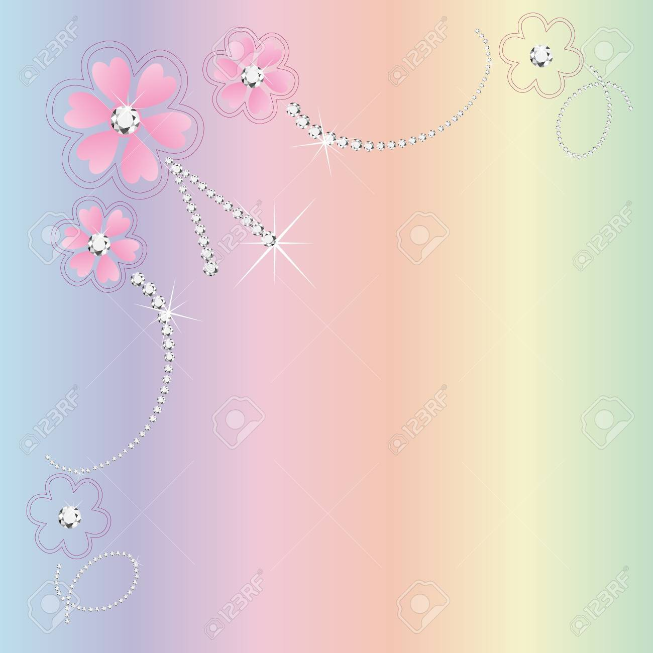 Wedding floral card invitation Stock Vector - 11295382