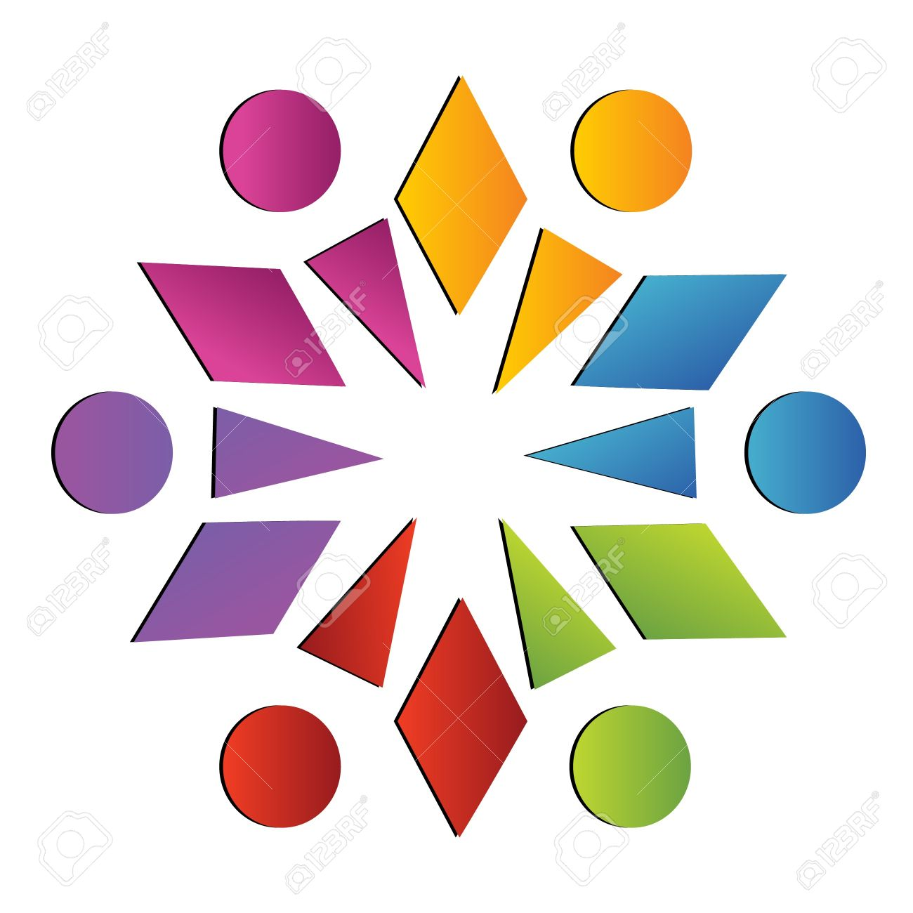 Team abstract social logo Stock Vector - 11295408