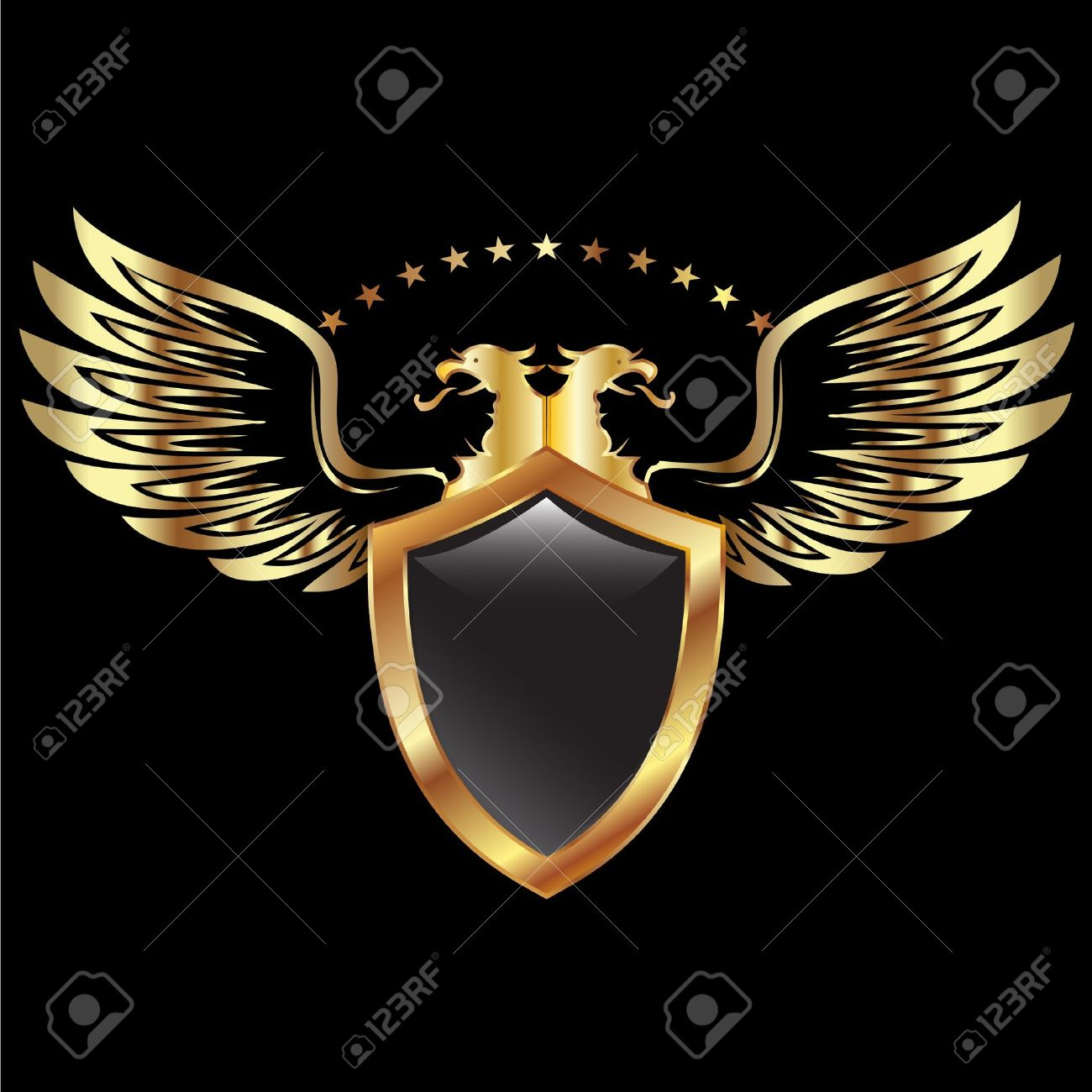 Eagle shield and wings - 11500495