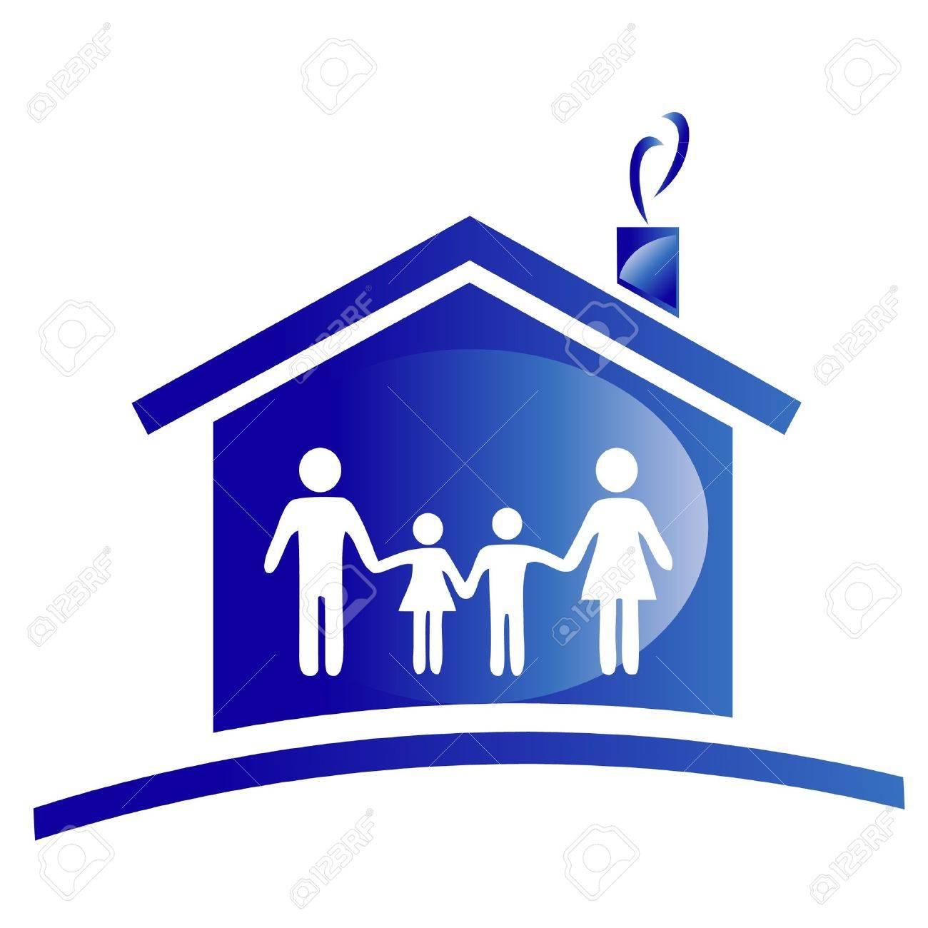 Famille Et Le Logo Icone De La Maison Clip Art Libres De Droits Vecteurs Et Illustration Image 11591185