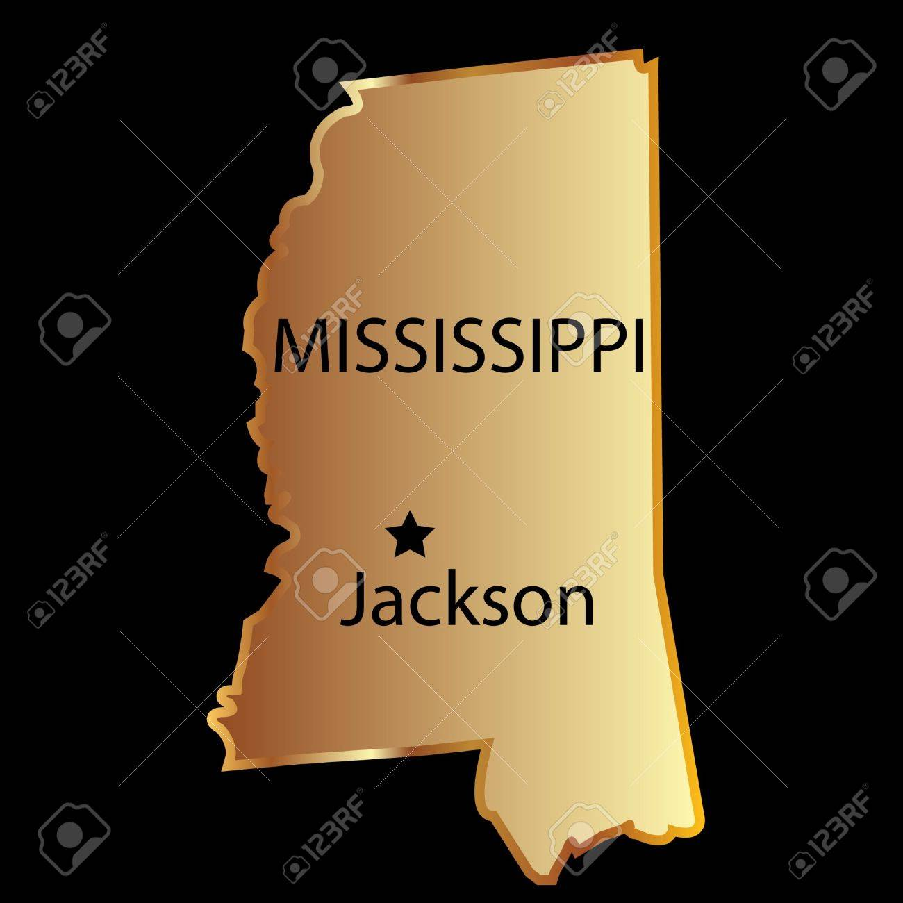 Mississippi State Usa Map Royalty Free Cliparts Vectors And - Mississippi in usa map
