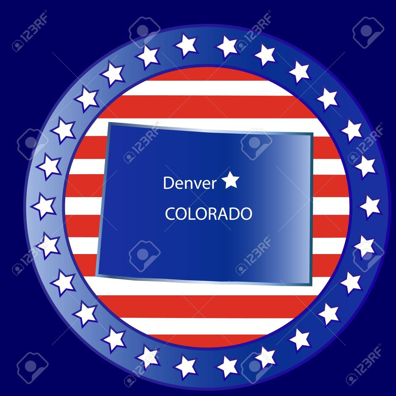 Colorado state seal stamp usa Stock Vector - 12075138