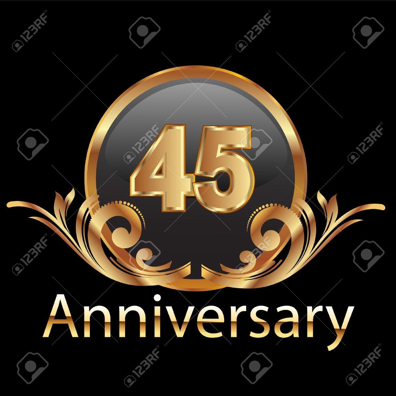 45 anniversary happy birthday Stock Vector - 12379712