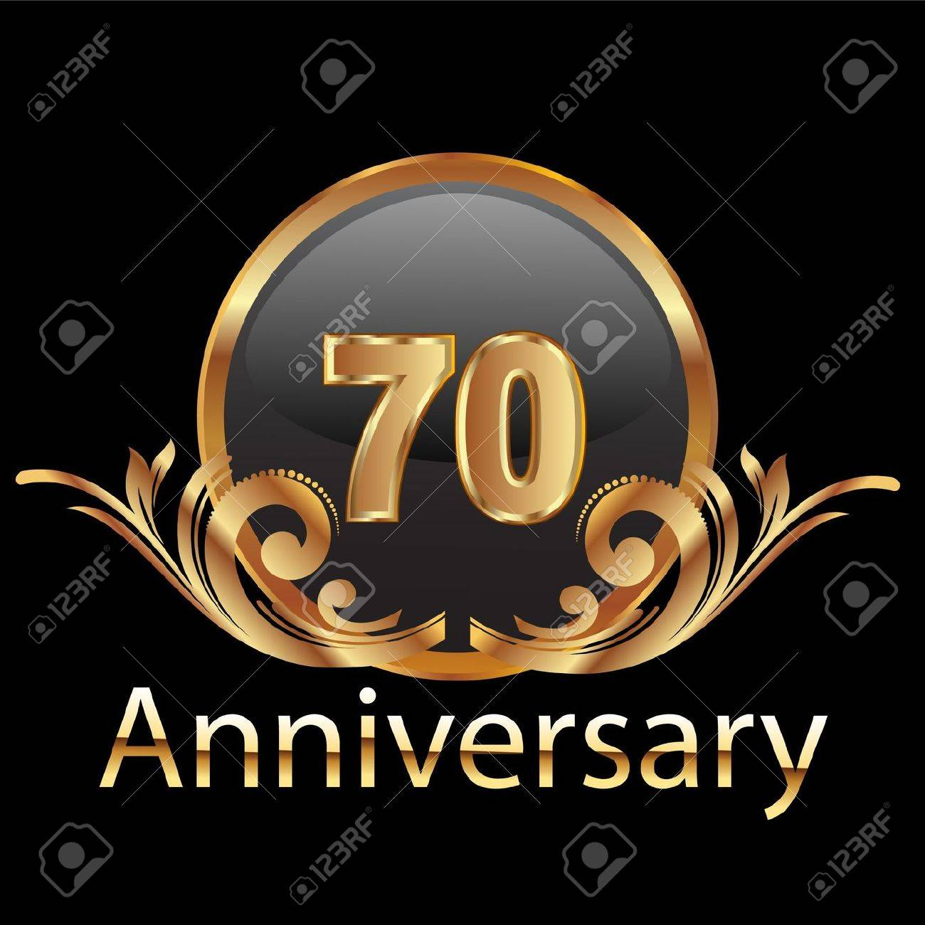 70 anniversary happy birthday Stock Vector - 12379711