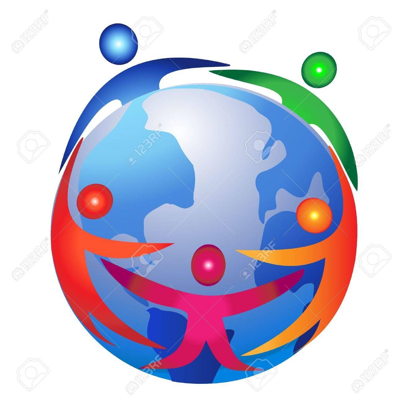 Teamwork commerce design logo Stock Vector - 12379717