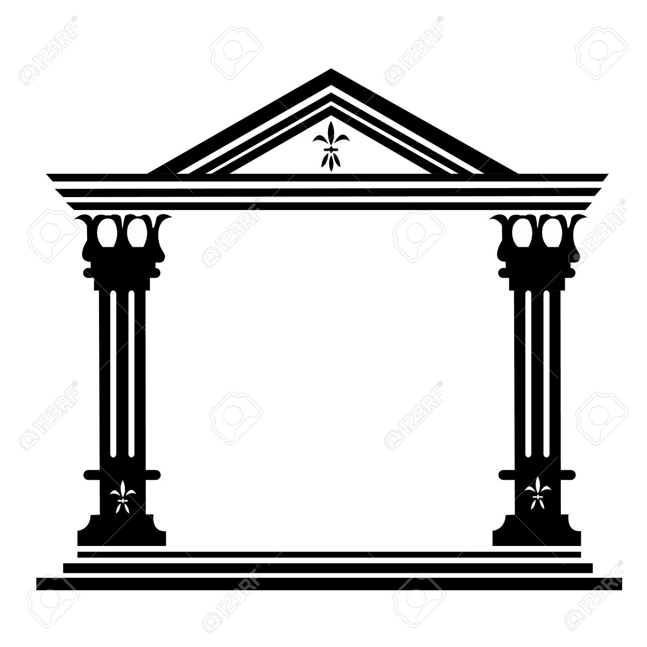 Columns ancient doric historic building Stock Vector - 12379693