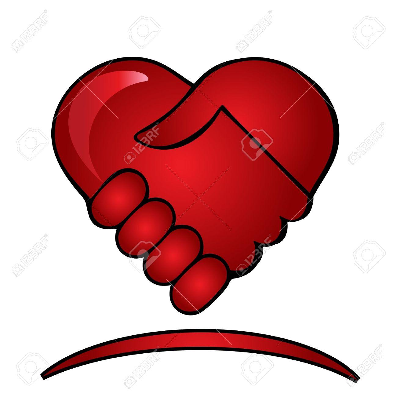 Shaking hands logo Stock Vector - 12379720