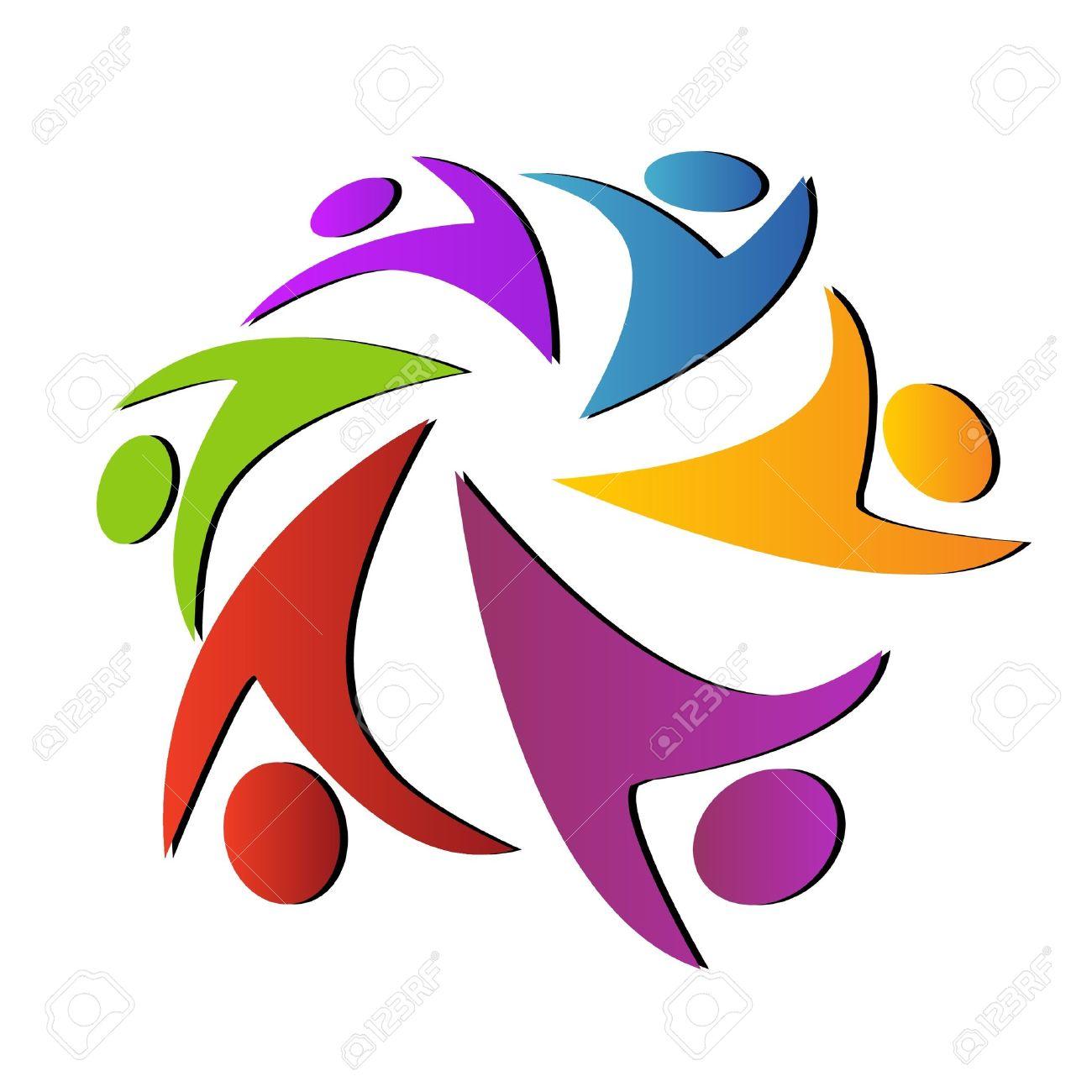 Teamwork logo Stock Vector - 12379695