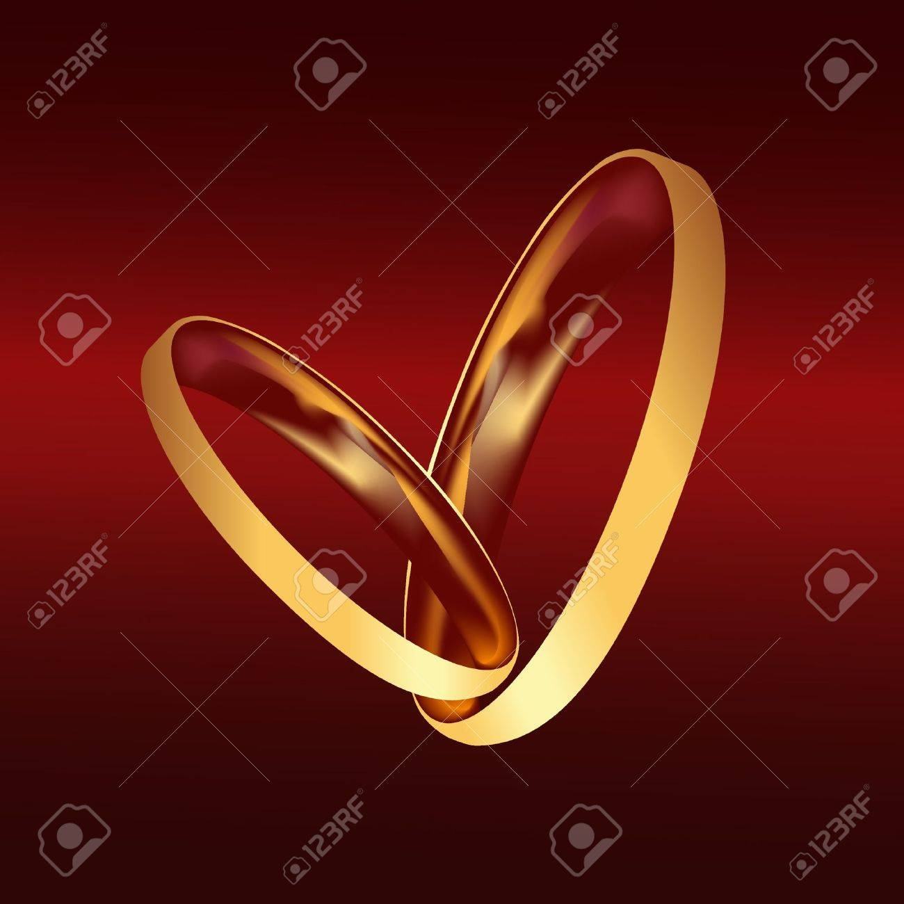 Couple gold wedding rings vector Stock Vector - 12805954