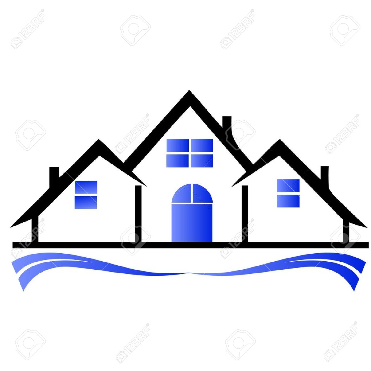 houses real estate logo royalty free cliparts vectors and stock rh 123rf com real estate sold sign free clip art free real estate clipart graphics