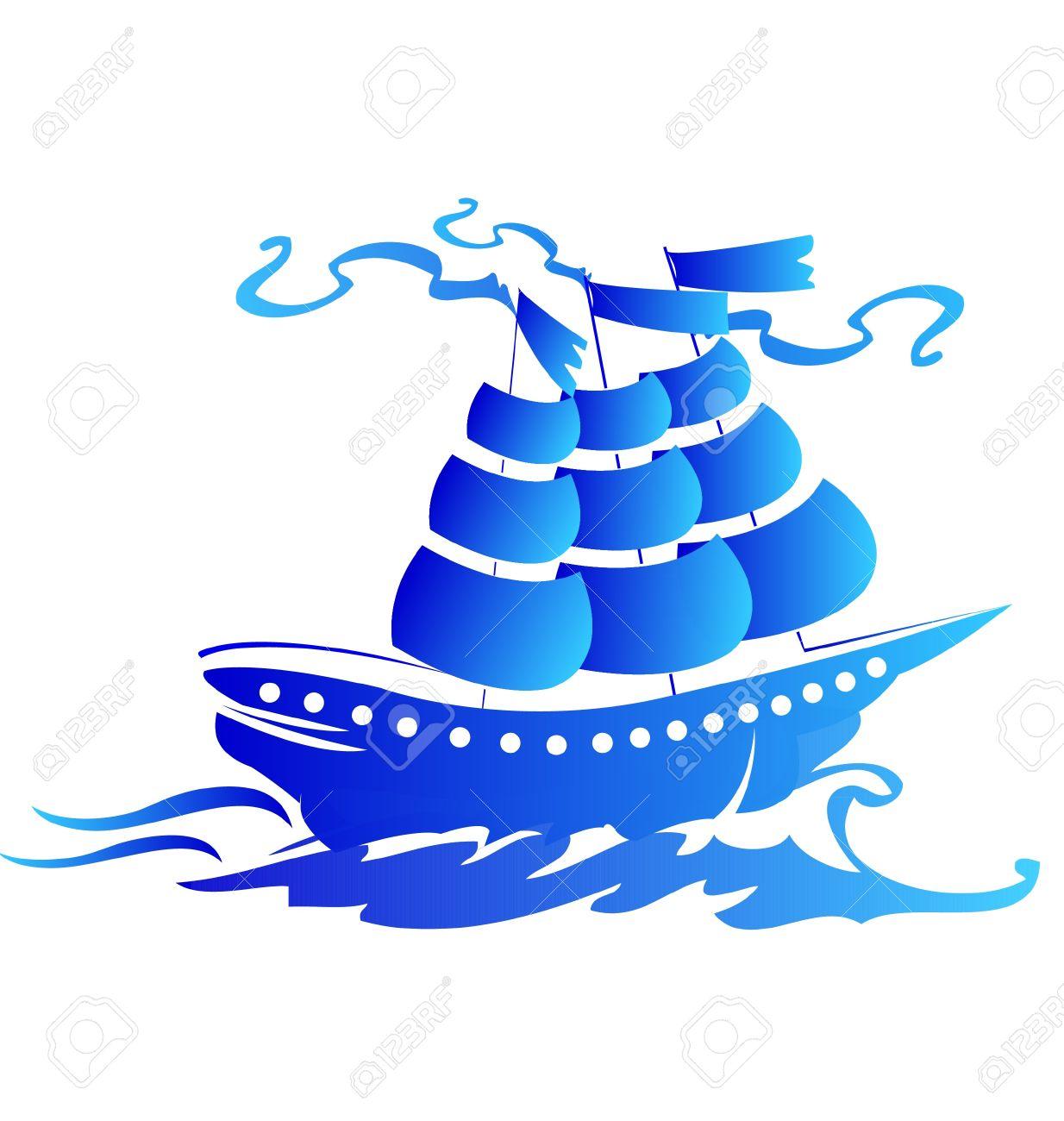 Sail ship logo Stock Vector - 12982283