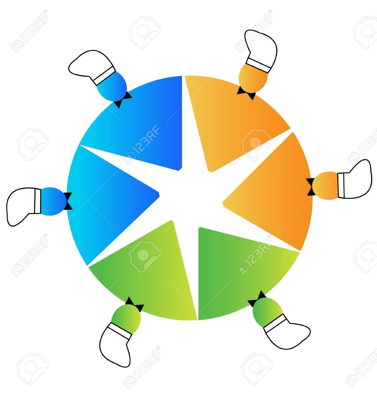 Teamwork chef hat baker Stock Vector - 13093795