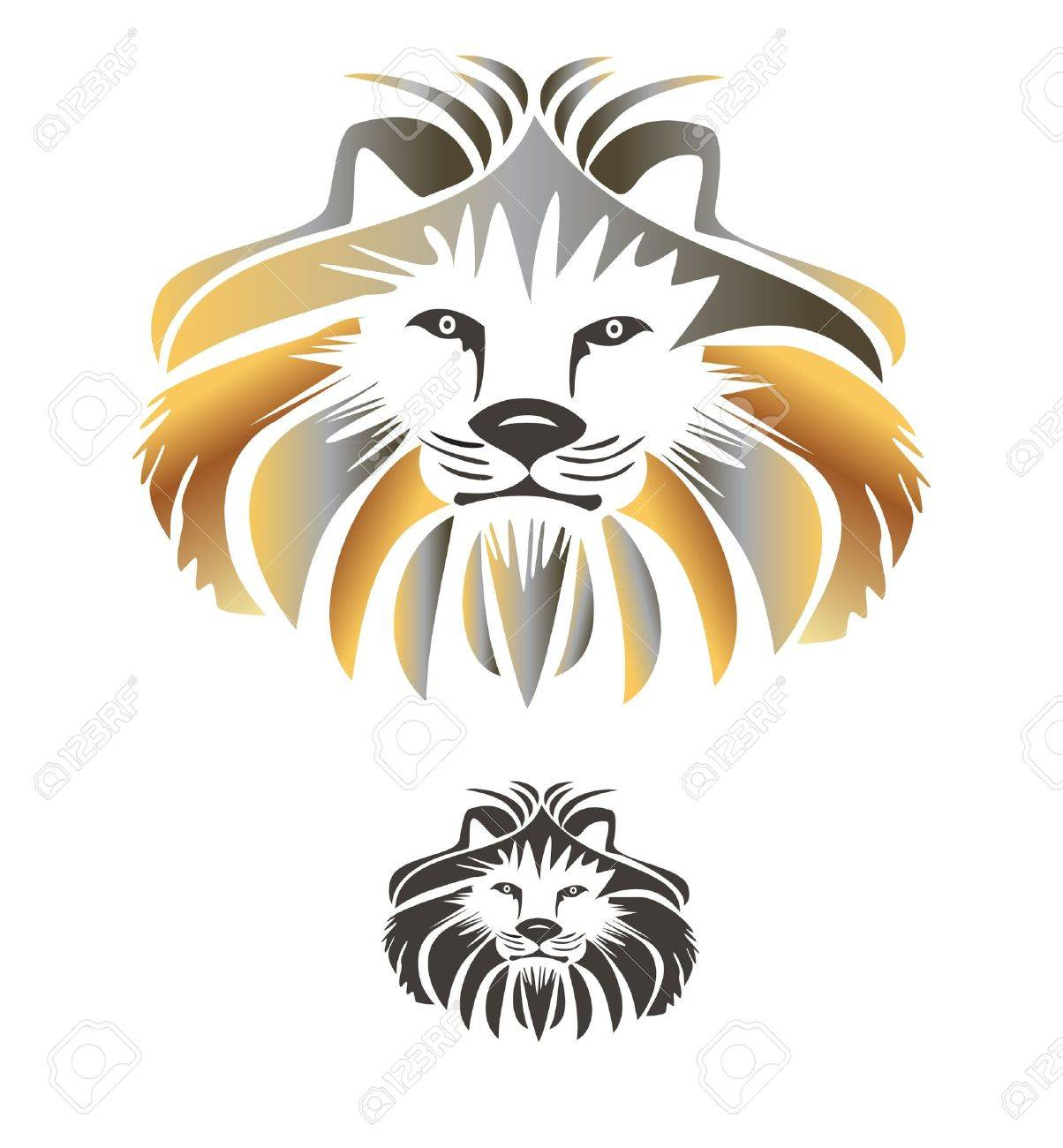 King lion vector logo Stock Vector - 13159564