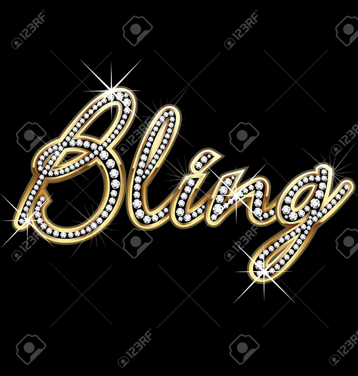 bling bling word vector royalty free cliparts vectors and stock