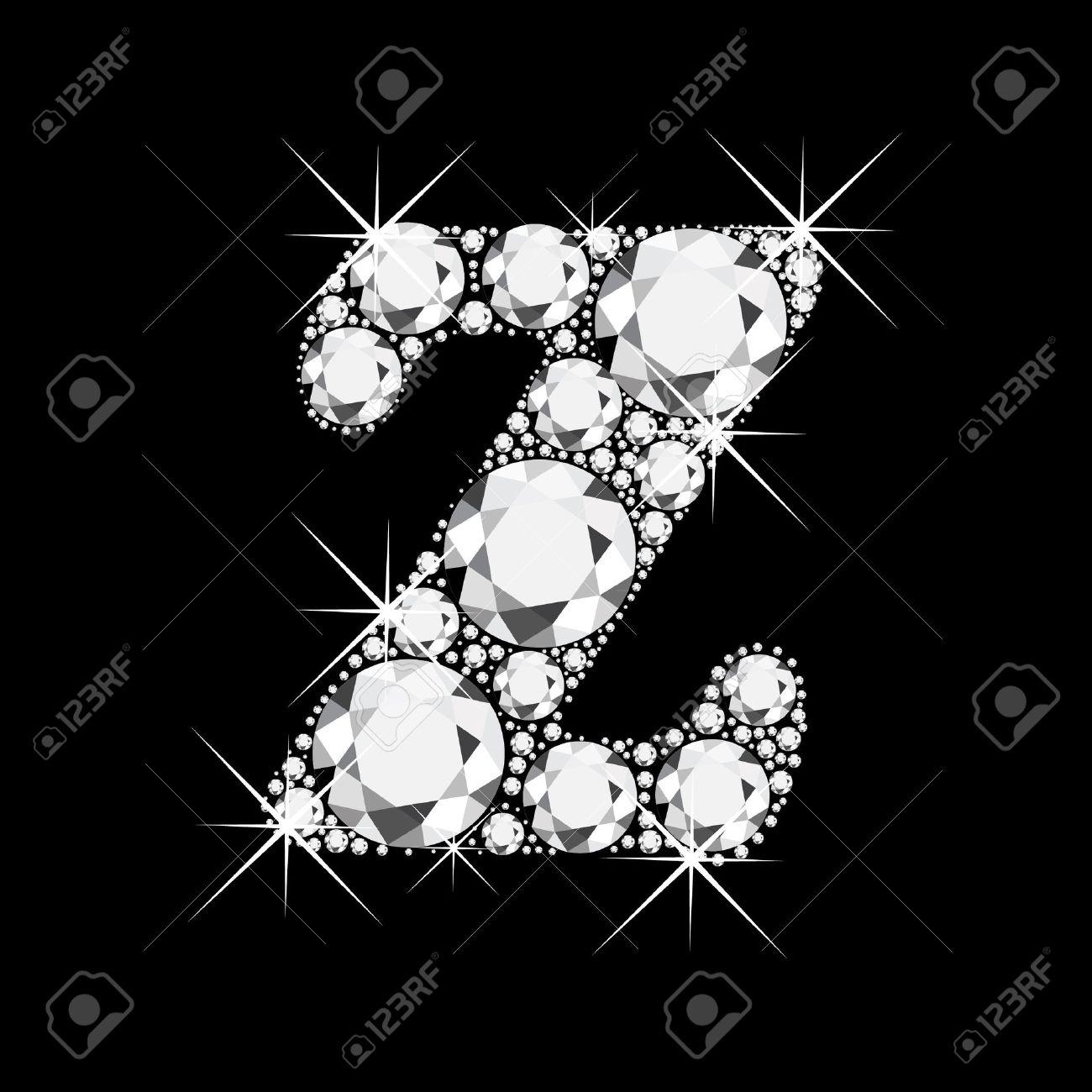 Z Letter With Diamonds Bling V Wallpapers For Mobile