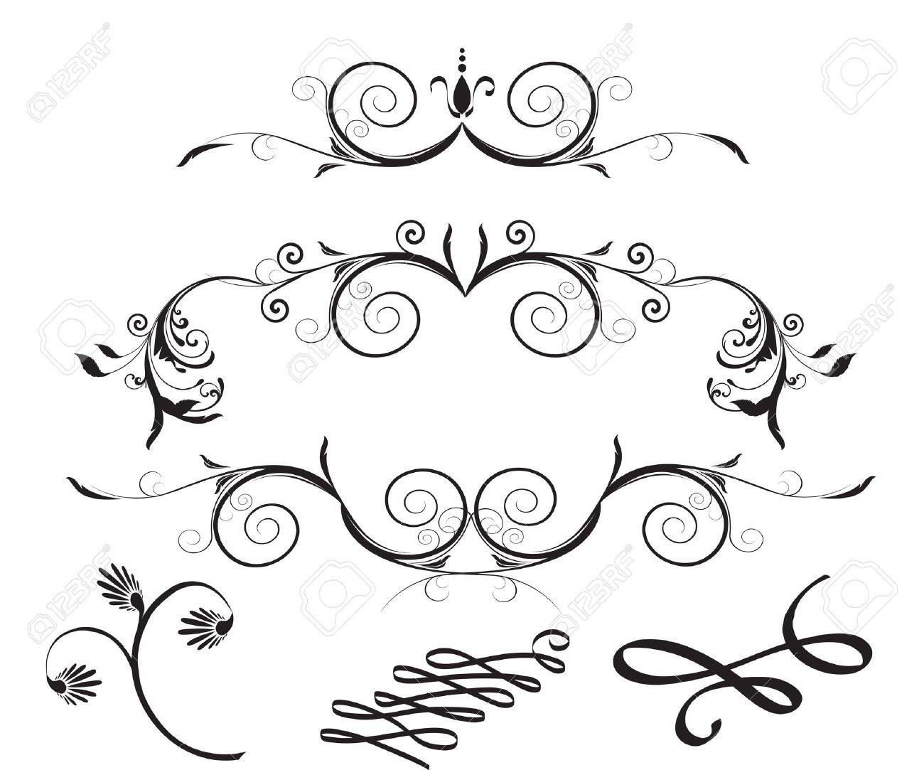 Decorative Floral Design Elements Stock Vector - 13659327