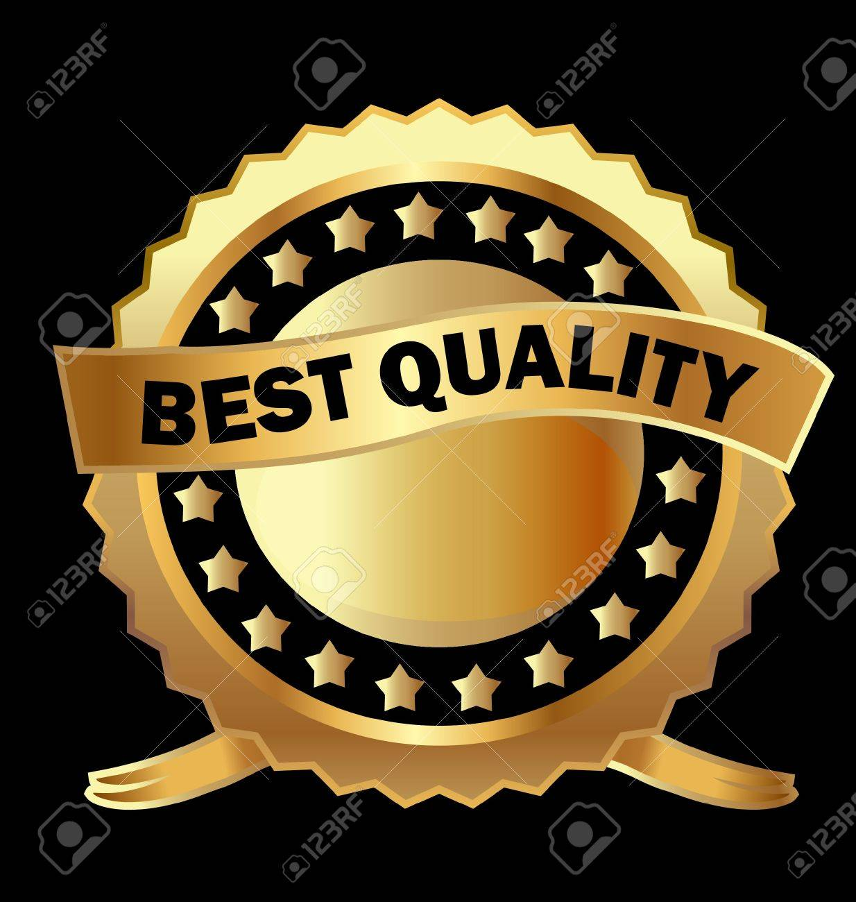 Gold label best quality Stock Vector - 13879962