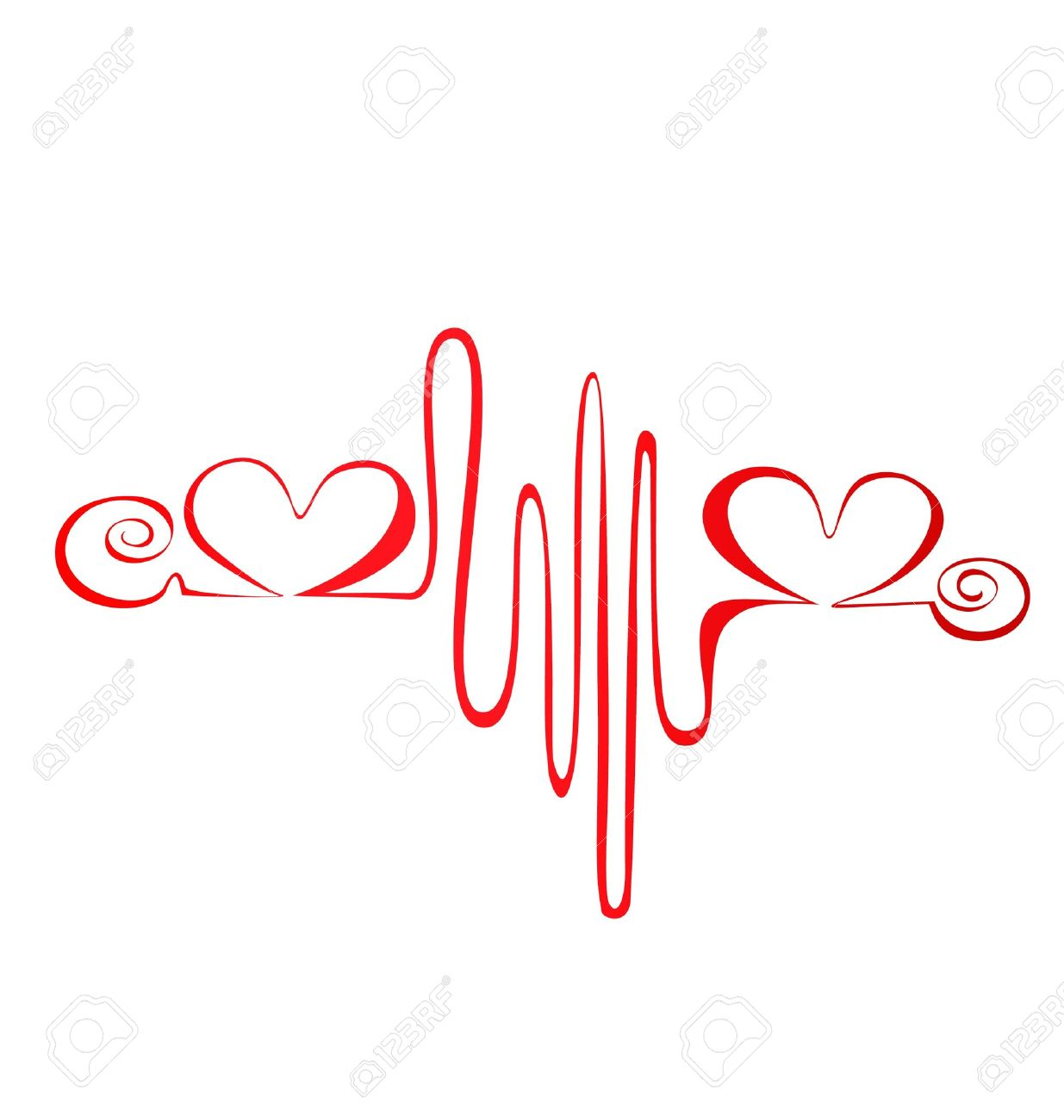 Heartbeat or cardiogram logo Stock Vector - 13975534