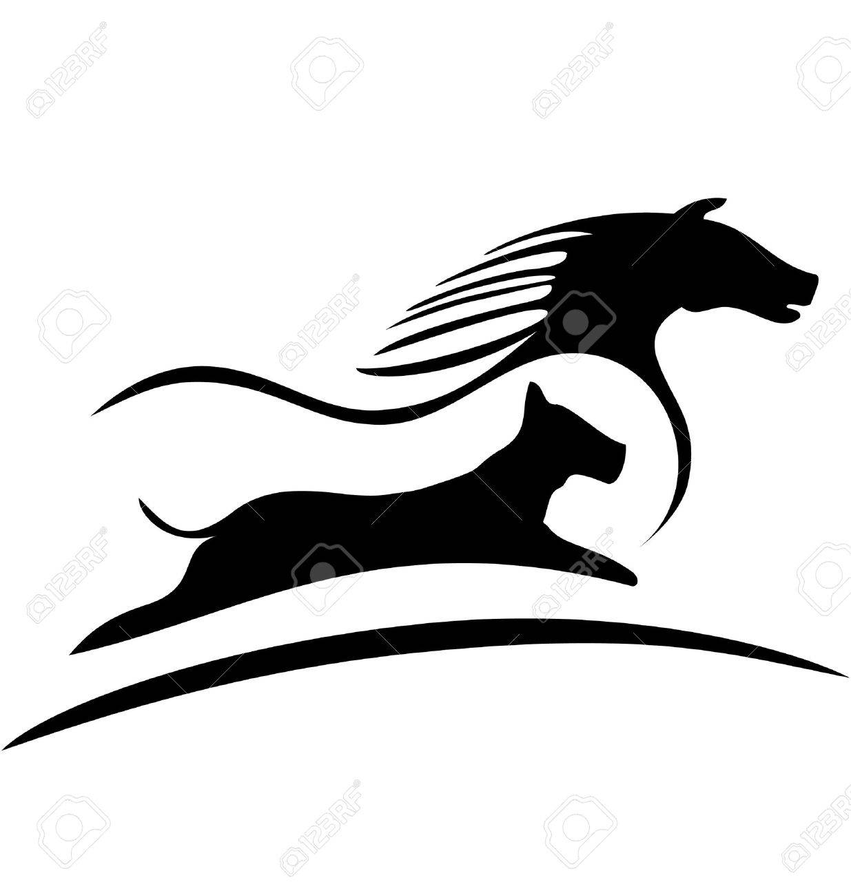 Horse And Dog Racing Logo Royalty Free Cliparts Vectors And Stock Illustration Image 14010971