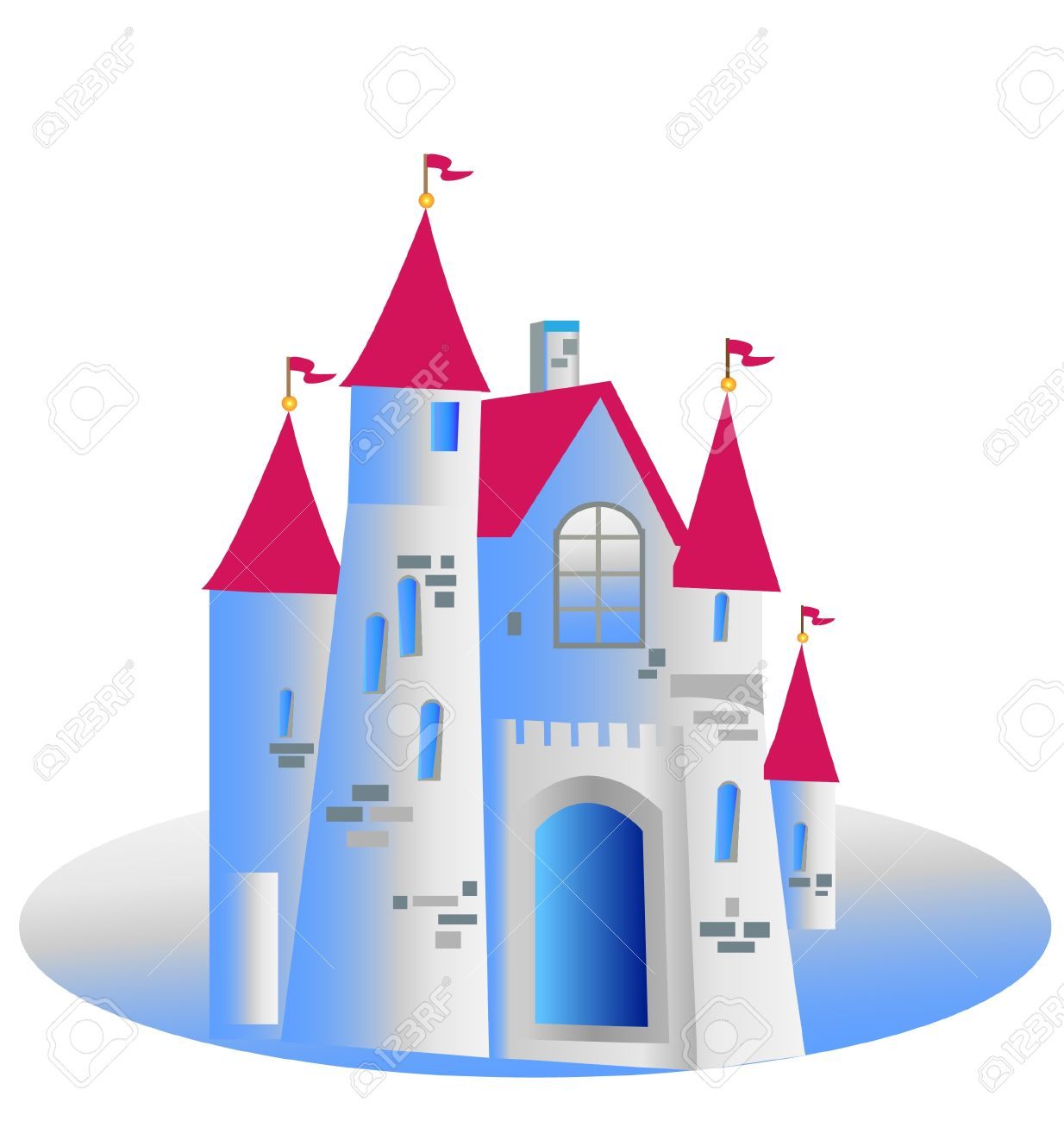 princess castle vector illustration royalty free cliparts vectors rh 123rf com castle victorian nebraska castle victoria british columbia canada