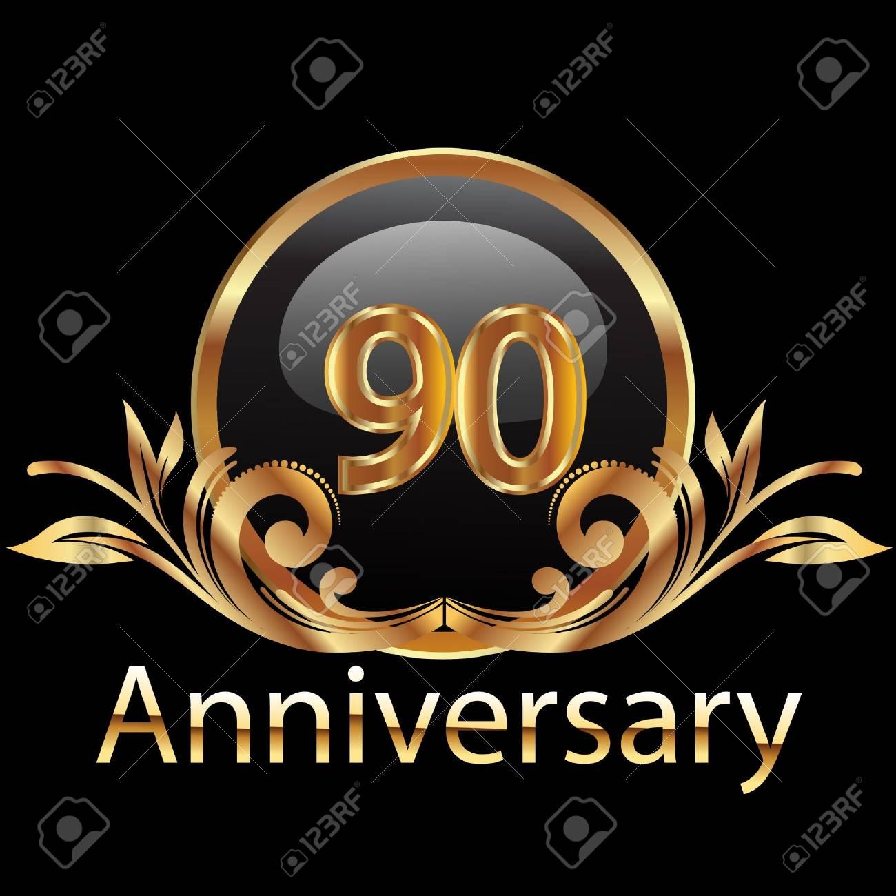 90 anniversary happy birthday Stock Vector - 15655088