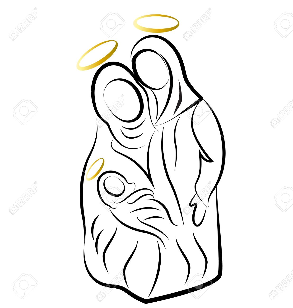Nativity scene silhouette vector Stock Vector - 16220111