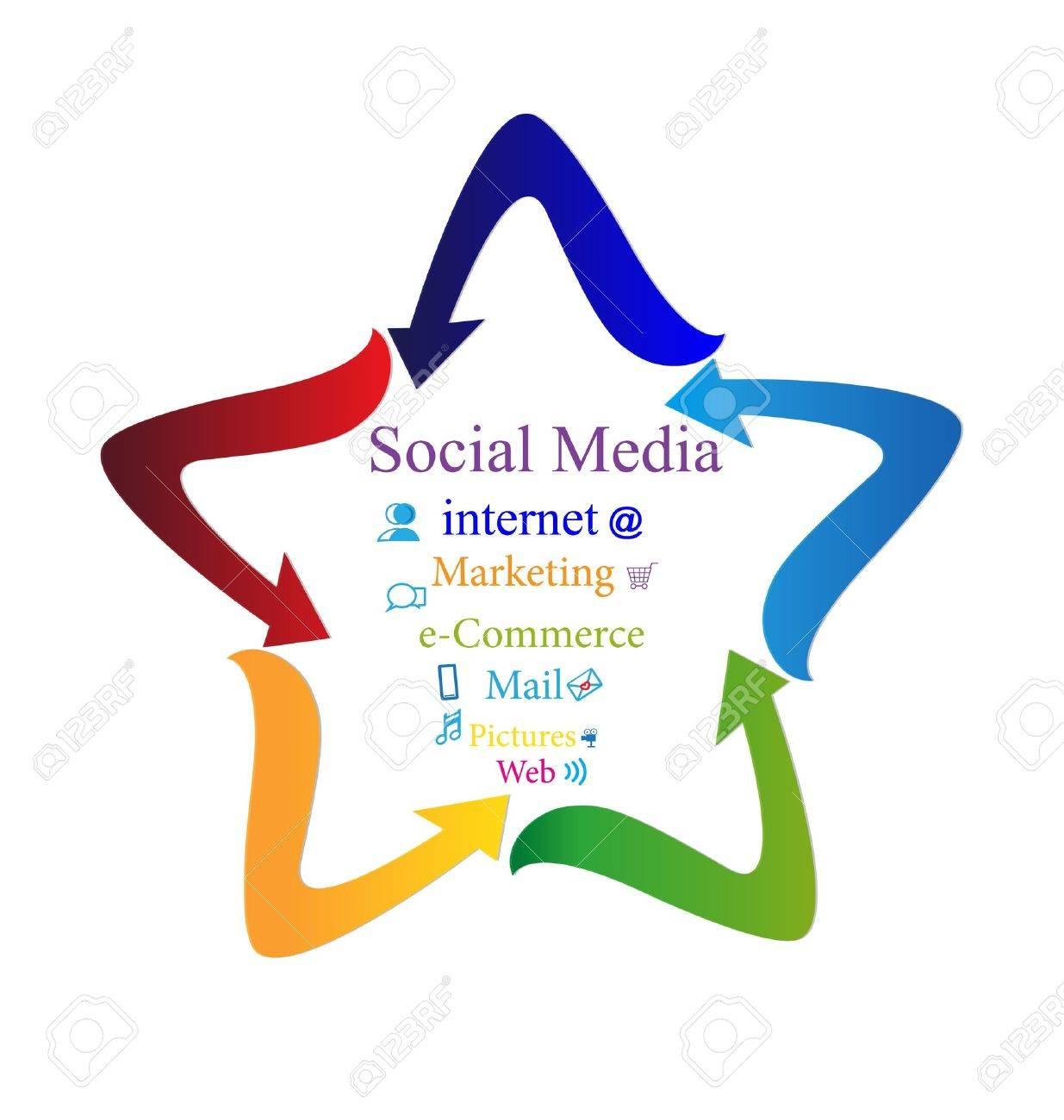 Social media with arrows star shape logo Stock Vector - 16526484