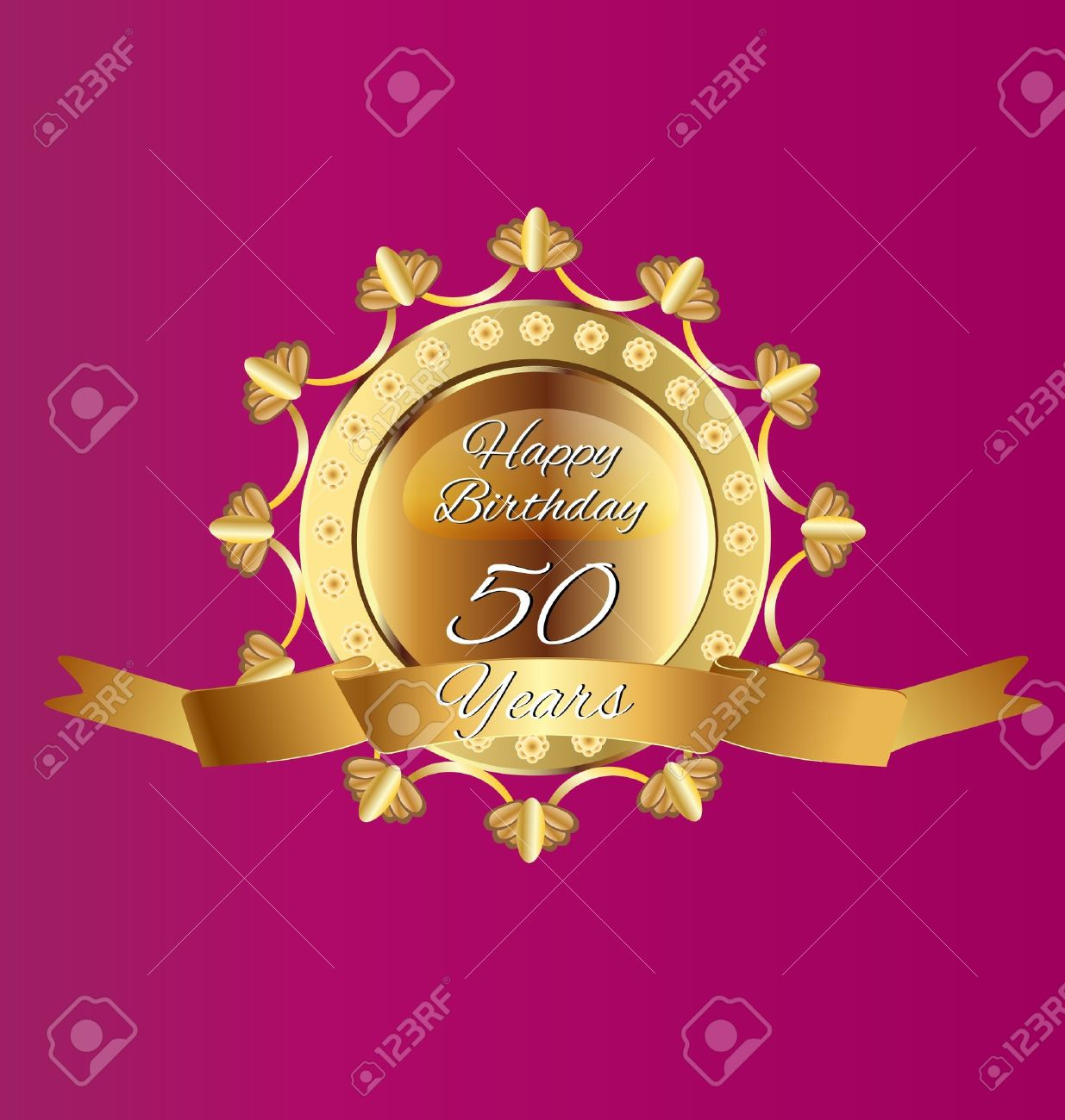 50 anniversary gold design vector Stock Vector - 16734063