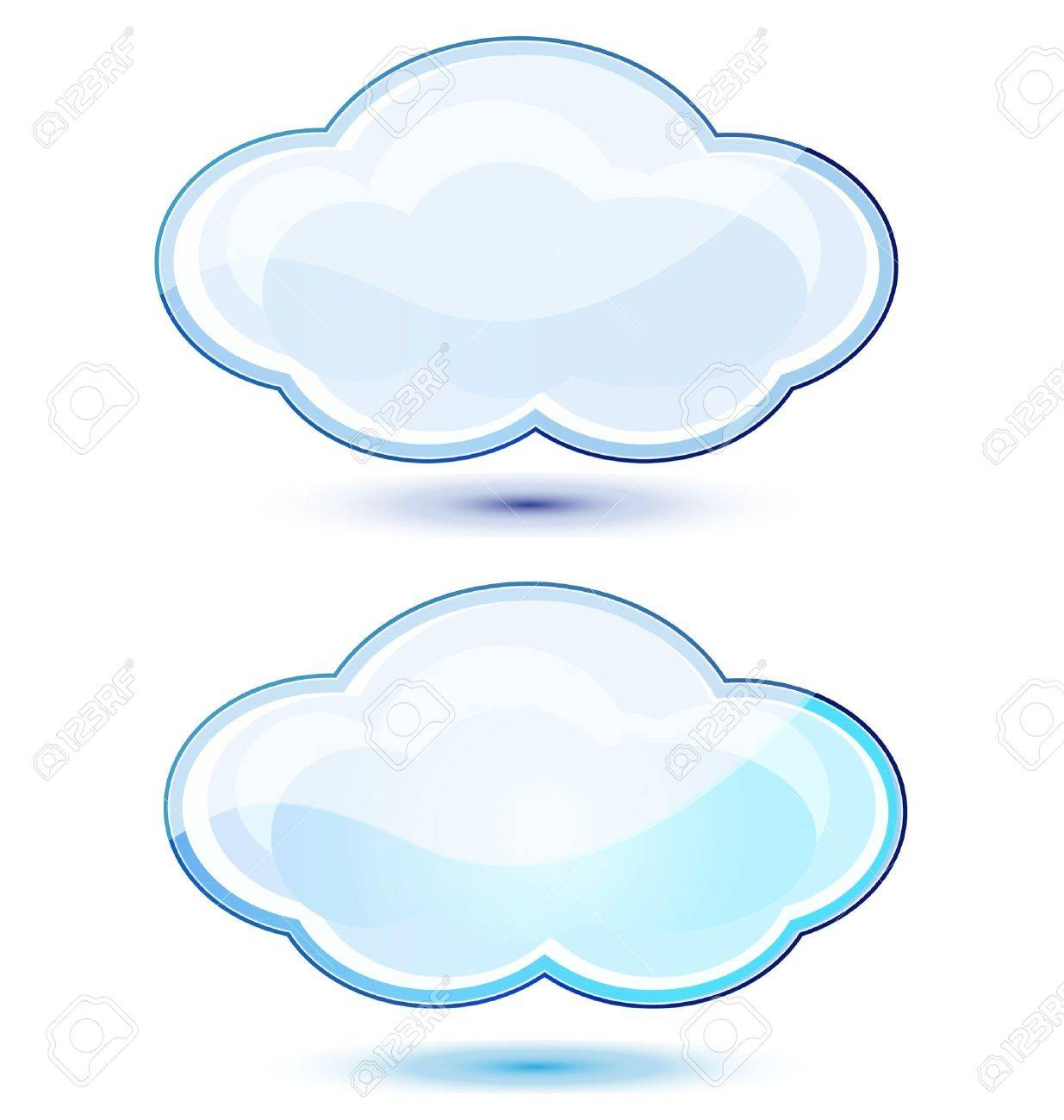 Glossy clouds stocks Stock Vector - 17072083