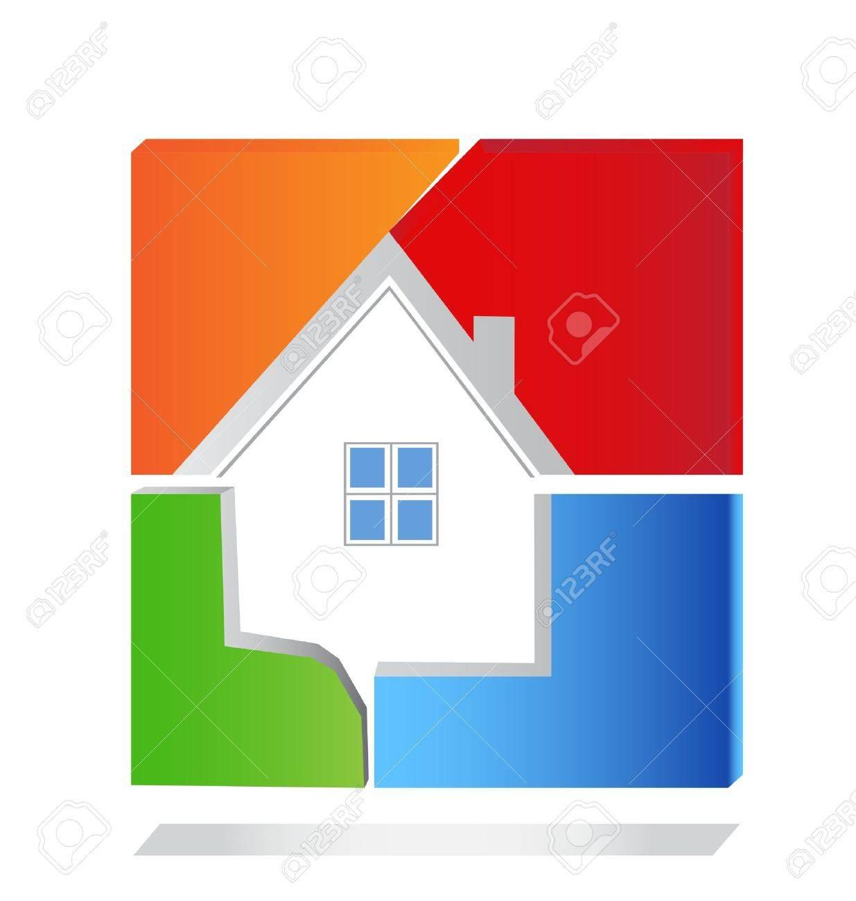 Housing Development Logo House Square Logo Vector