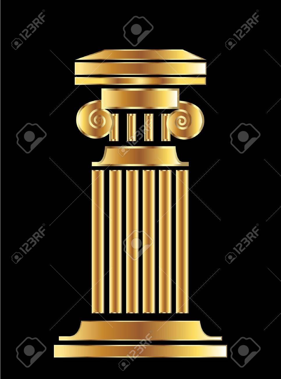 Gold Column Vector Gold Column Vector Design