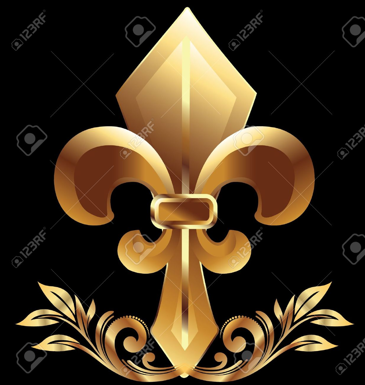 Golden fleur de liz symbol royalty free cliparts vectors and golden fleur de liz symbol stock vector 17810420 biocorpaavc