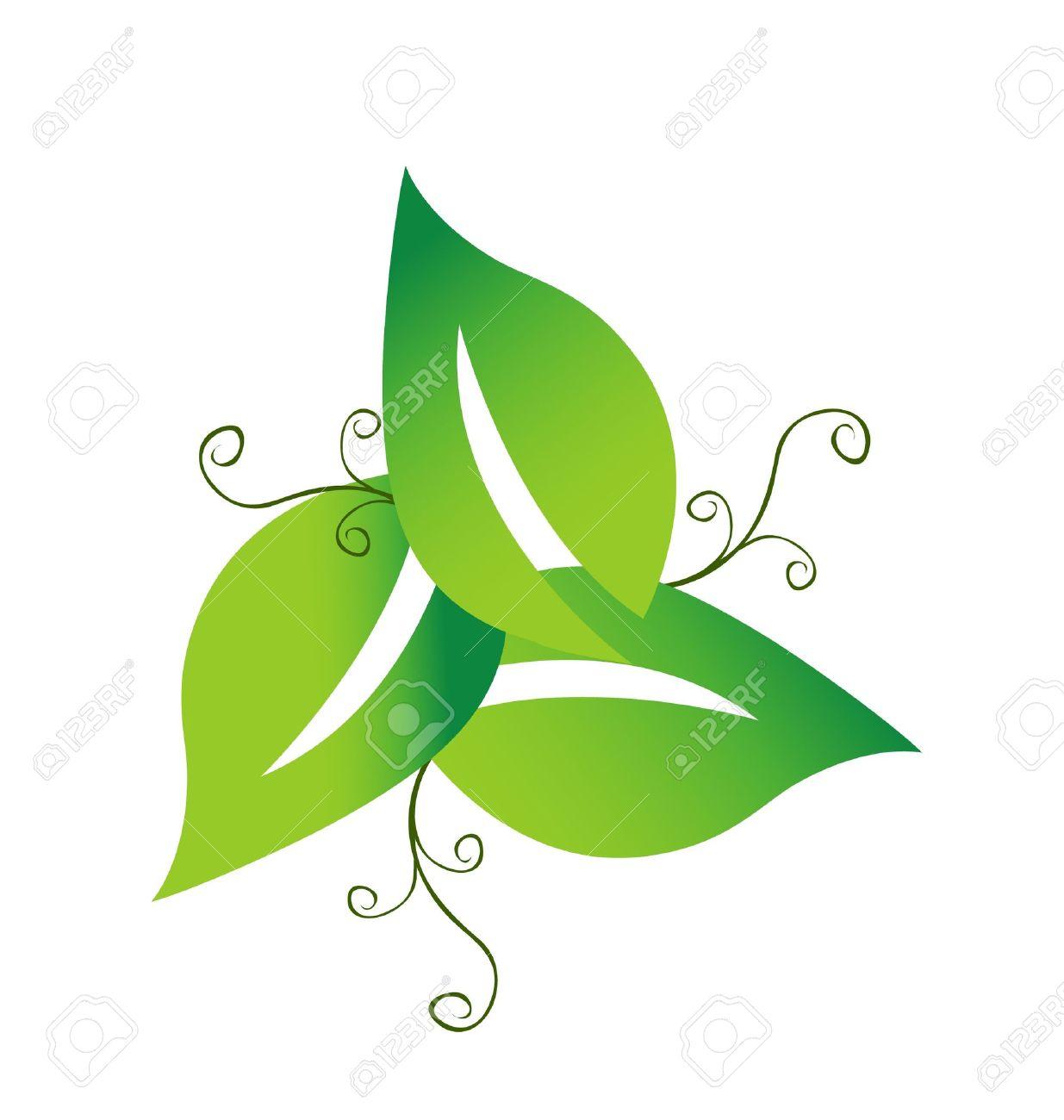 Verdes Logo Verde Swirly Foglie Logo