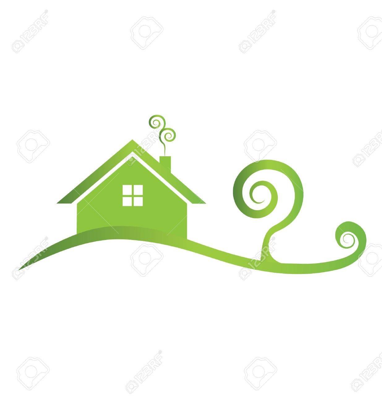 Green house swirly Stock Vector - 18081167