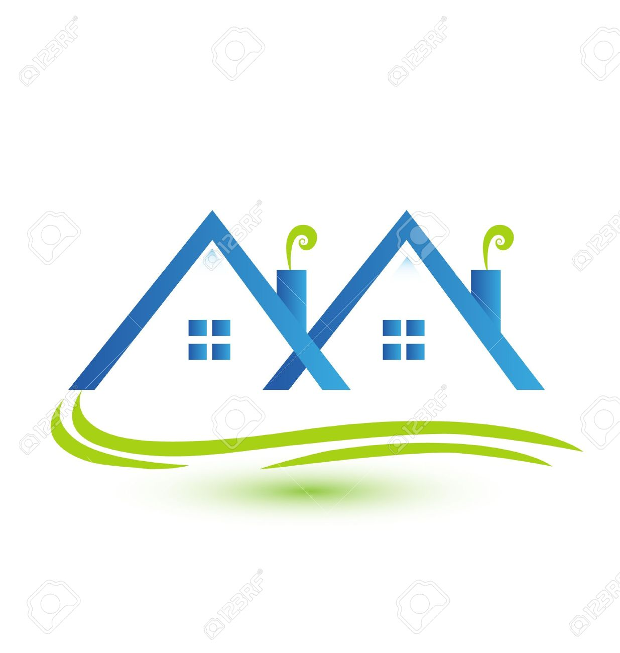 Townhouses real estate logo Stock Vector - 18859620