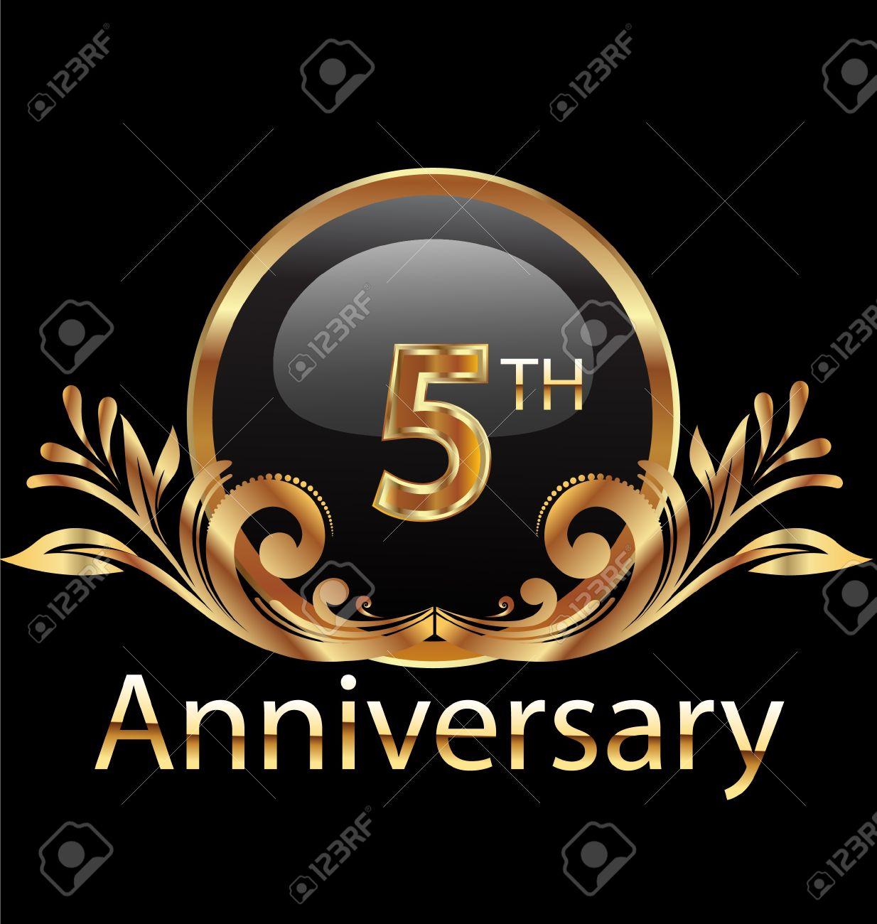 5 years anniversary birthday in gold royalty free cliparts 5 years anniversary birthday in gold stock vector 19057234 biocorpaavc Gallery