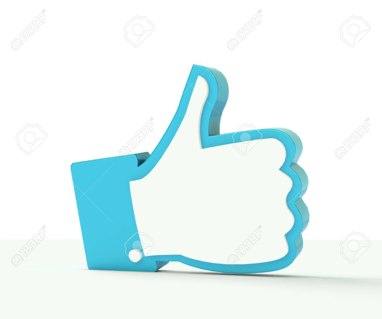 3D thumb up social media illustration photo Stock Photo - 20273035