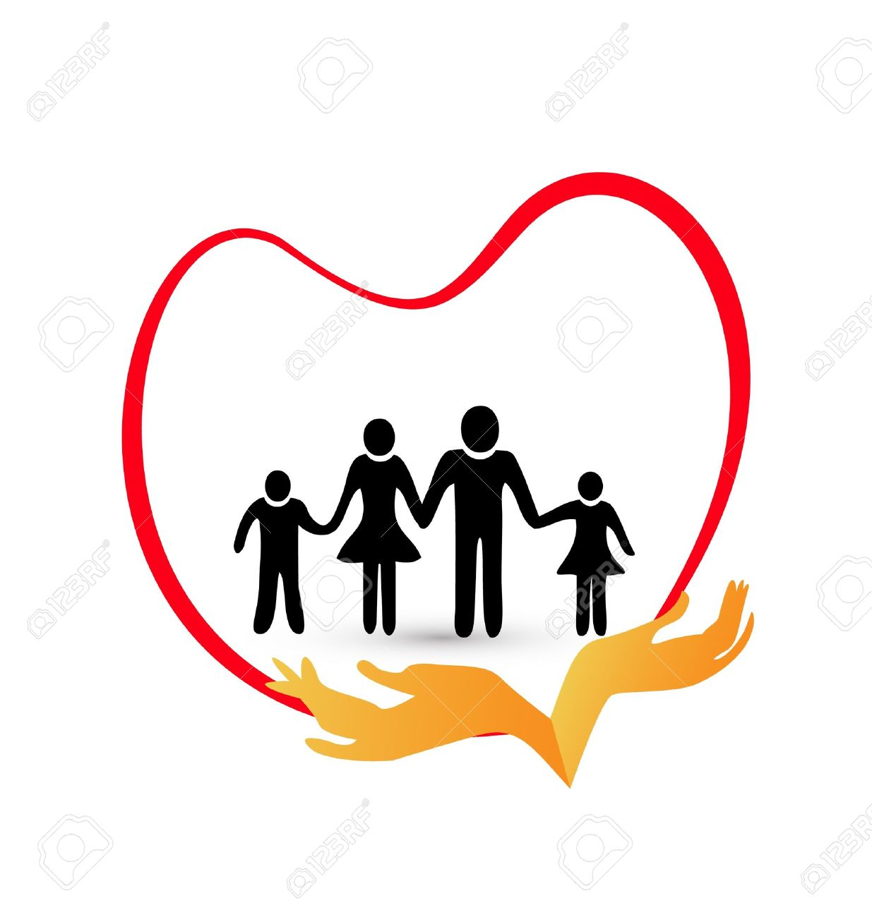 Family protection with love Stock Vector - 21769987