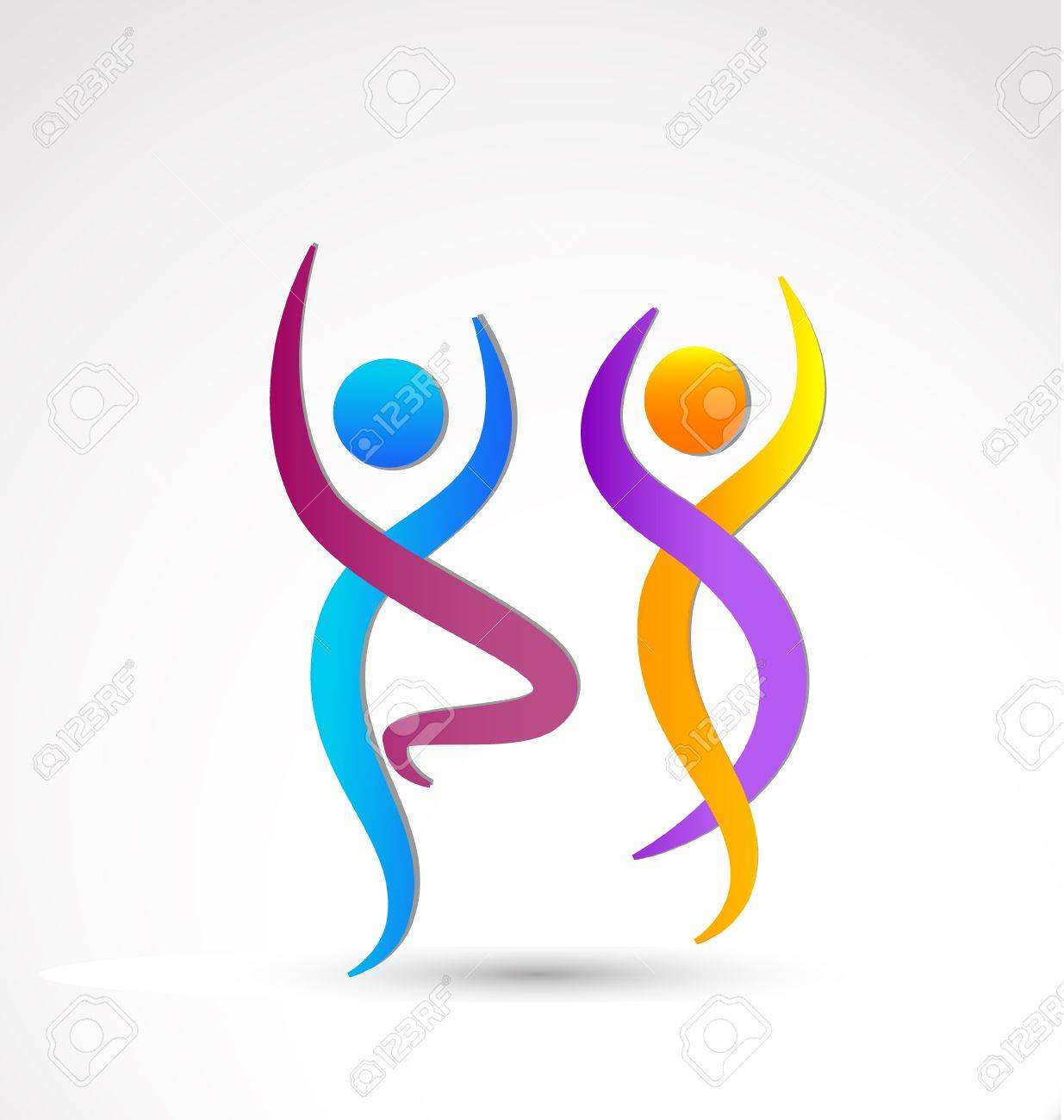Wellness icon  Couple Dancing Wellness Icon Background Royalty Free Cliparts ...
