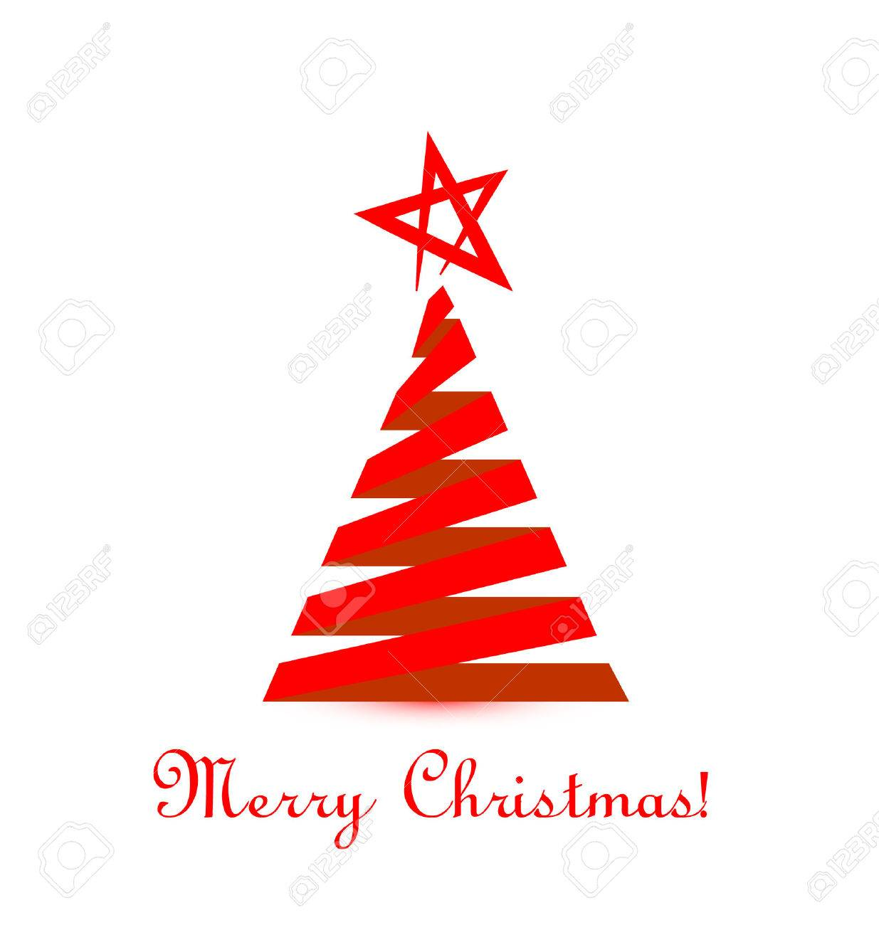 Red Christmas Tree.Red Christmas Tree Vector