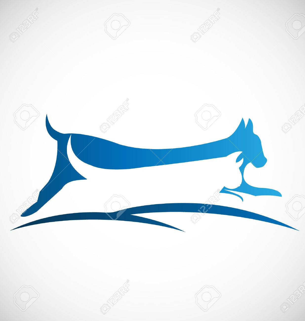 Vector of cat and dog icon design Stock Vector - 23200280